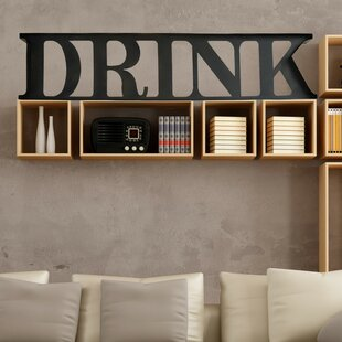 Steel Drink Sign Letter Block By TrekDecor