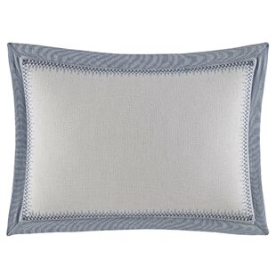 Abbot Embroidered Cotton Lumbar Pillow