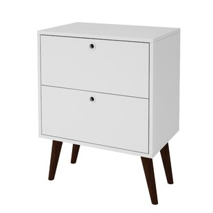 Ferri 2 Drawer Nightstand by George Oliver