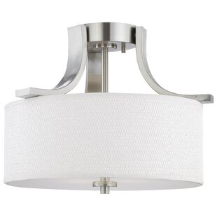 Latitude Run Lake Park 2-Light Semi Flush Mount