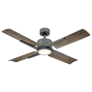 56 Cervantes 4 Blade Outdoor LED Ceiling Fan with Remote
