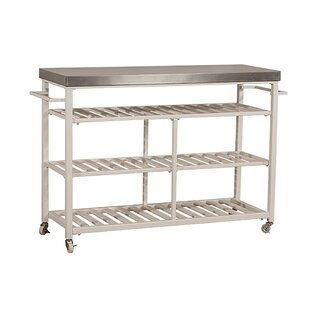 Geary Kitchen Island with Stainless Steel Top