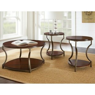 Winston Porter Clawson 3 Piece Coffee Table Set