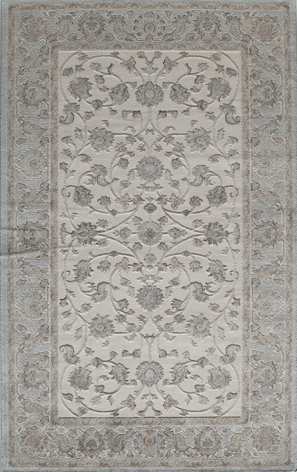 Threadbind Sheldon Power Loom Ivory Blue Rug Wayfair