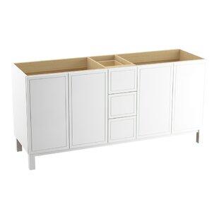 Jacquard? 72 Vanity with Furniture Legs, 4 Doors and 3 Drawers, Split Top Drawer by Kohler