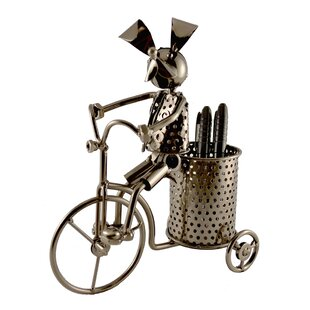 Wine Bodies Foreside Dog on Trycicle Pen Holder