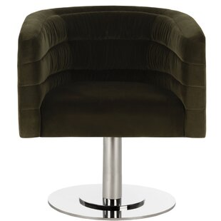 Slawson Velvet Swivel Armchair by Orren E..