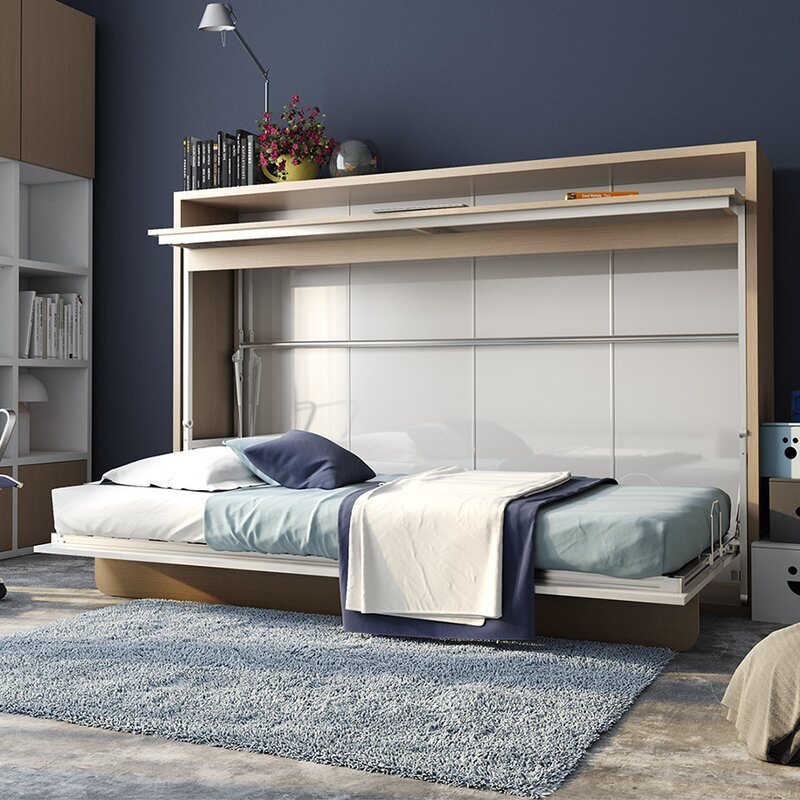 Murphy Bunk Beds: Brayden Studio Gautreau Twin Murphy Bed