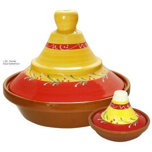 Eurita 2 Piece Almeria Hand Painted Mini Terracotta Round Tagine Set