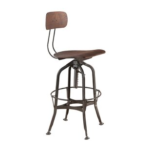 Quinton Adjustable Height Swivel Bar Stool by 17 Stories