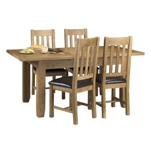 Berwick Extendable Dining Set With 4 Chairs By ClassicLiving