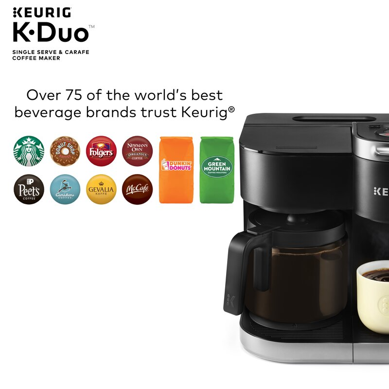 Keurig K Duo Coffee Maker With Single Serve K Cup Pod And 12 Cup Carafe Brewer Reviews Wayfair