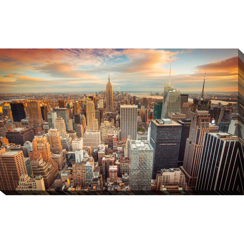 Ebern Designs New York City Photographic Print On Wrapped Canvas Reviews Wayfair