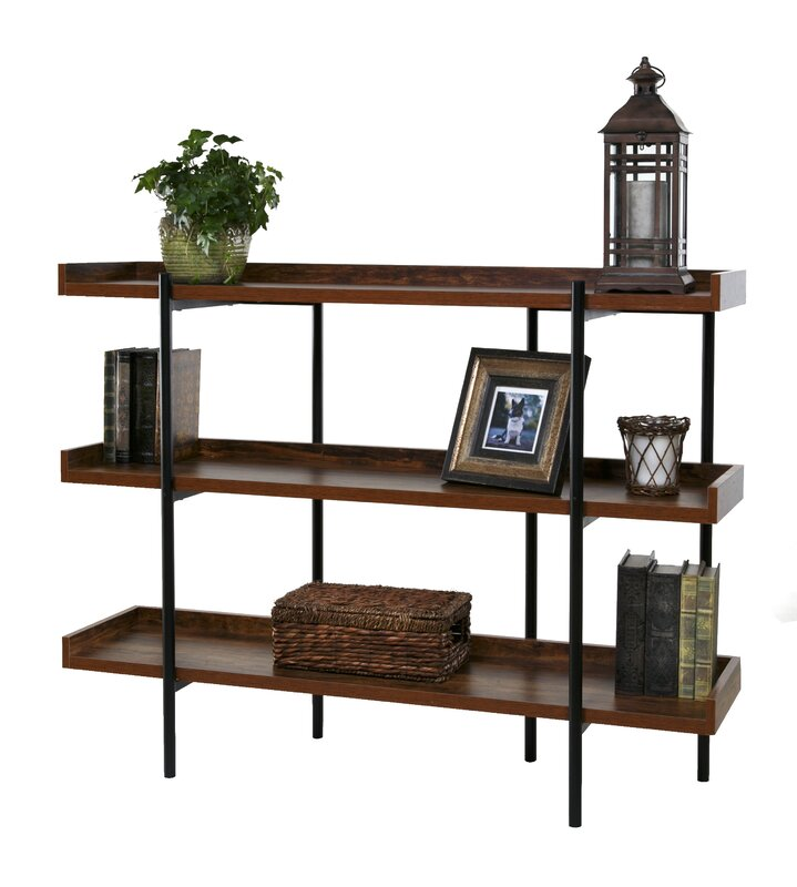 "Modern Shelf gracie oaks calona modern wood and steel 3 shelf 36"" etagere"
