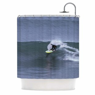 'Surfers Ride' Single Shower Curtain