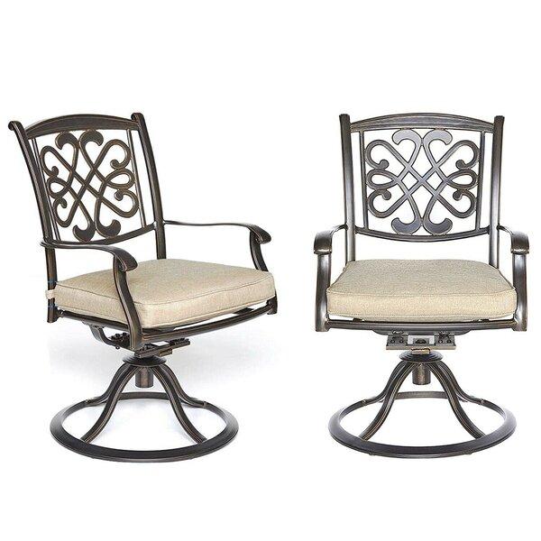 Pleasing Cast Aluminum Patio Glider Wayfair Machost Co Dining Chair Design Ideas Machostcouk