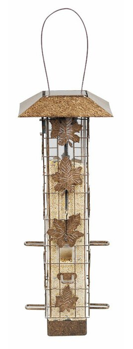 Squirrel-Be-Gone Wild Bird Metal Tube Bird Feeder