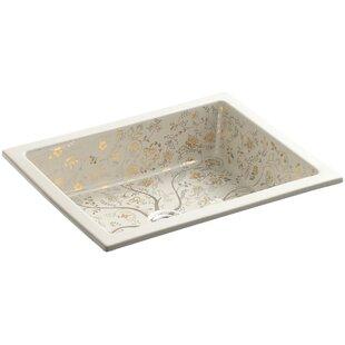 Mille Fleurs Ceramic Rectangular Undermount Bathroom Sink Kohler