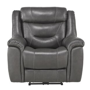 Robitaille Leather Power Recliner By Winston Porter
