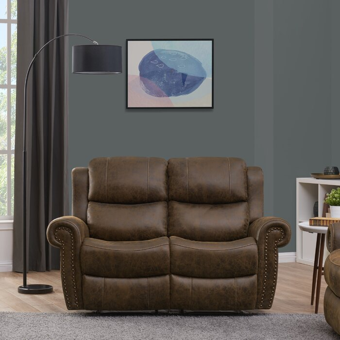Awesome 2 Seat Rolled Arm Wall Hugger Home Theater Loveseat Spiritservingveterans Wood Chair Design Ideas Spiritservingveteransorg