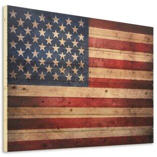 e8a181276ec7 Arte De Legno  American Dream  Graphic Art Print on Wood