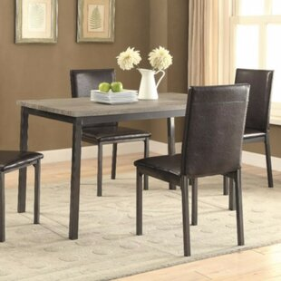Spenser Contemporary Metal Dining Table Gracie Oaks