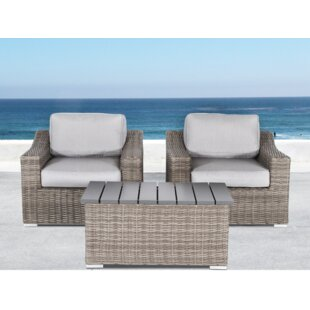 Huddleson 3 Piece Conversation Set with Cushions by Rosecliff Heights