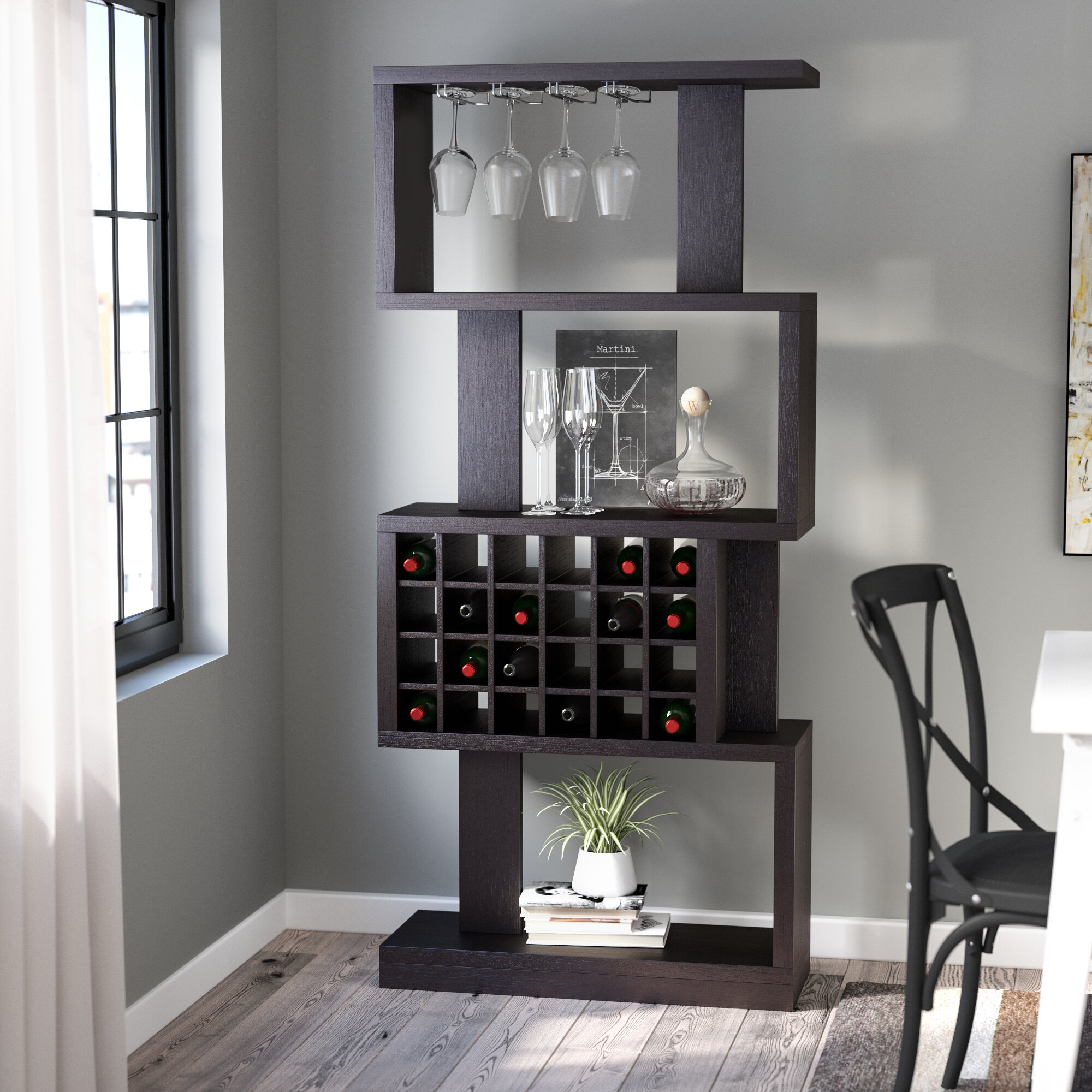 Zipcode Design Matson 24 Bottle Floor Wine Glass Rack Reviews