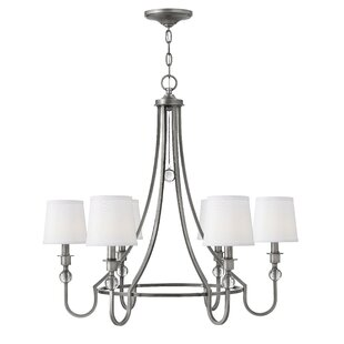 Alcott Hill Kessler 6-Light Shaded Chandelier