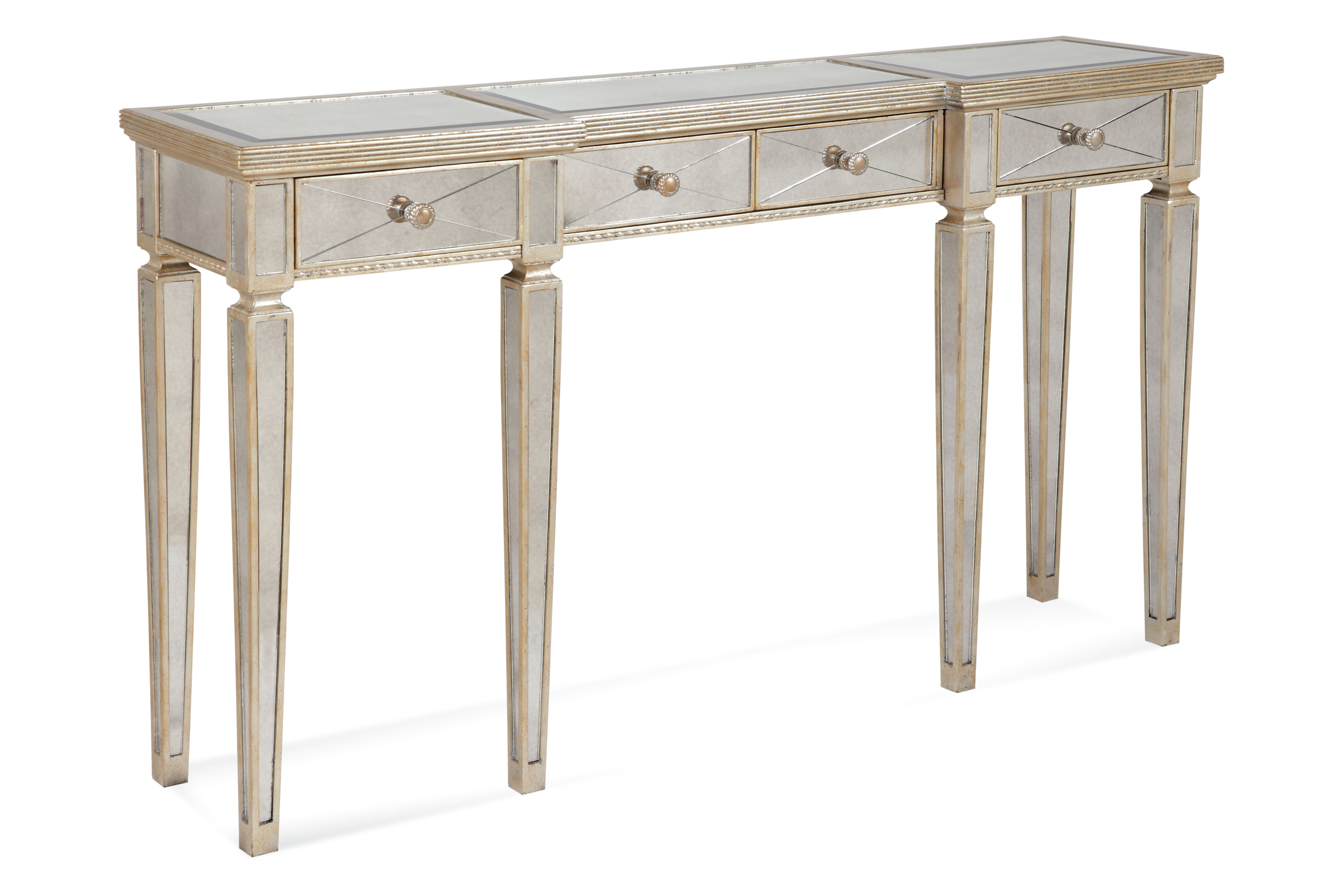 Willa Arlo Interiors Roehl Mirrored Console Table With Drawers Reviews Wayfair