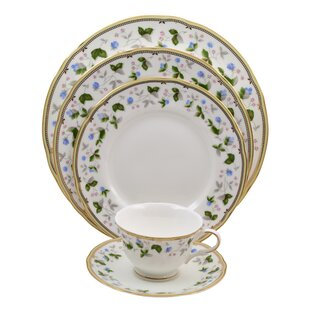 Everglades 5 Piece Bone China Place Setting, Service for 1 (Set of 4)