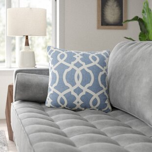 Brennan Damask 100% Cotton Throw Pillow