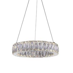 Juno 1-Light LED Crystal Pendant by CWI Lighting