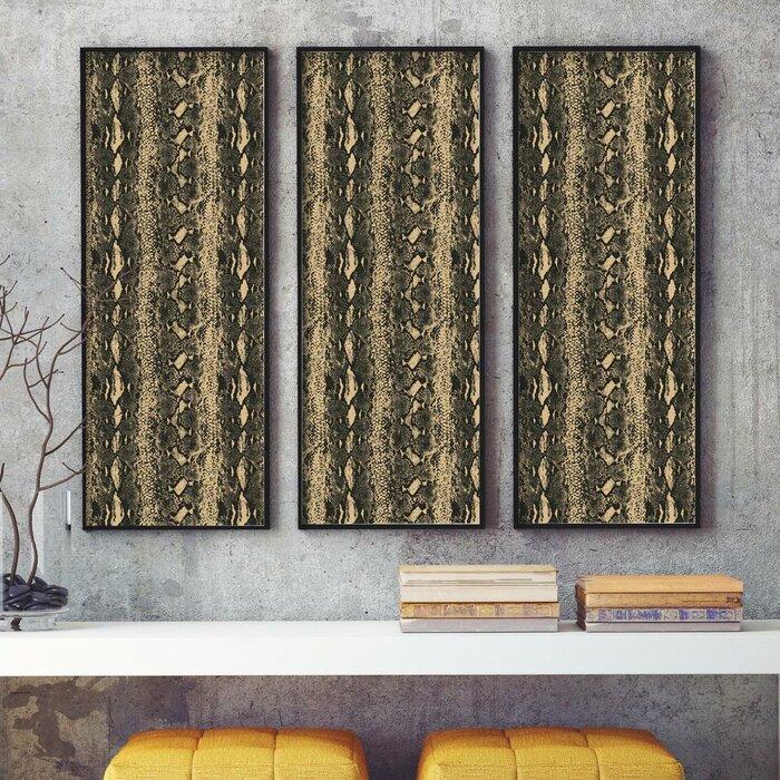 Merrill Snake Skin 16 5 L X 20 5 W Abstract Peel And Stick Wallpaper Roll