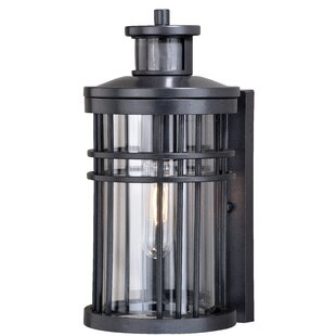 Photocell included outdoor wall lighting youll love wayfair sathvik outdoor wall lantern with motion sensor workwithnaturefo