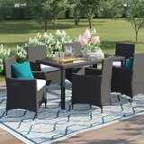Bridgette Outdoor Complete 7 Piece Dining Set with Cushions by Andover Mills