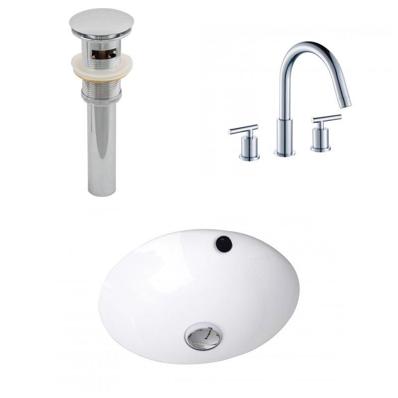 American Imaginations Ceramic Circular Undermount Bathroom Sink With Faucet And Overflow Wayfair