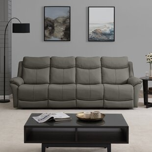 Jabari 4 Seat Wall Hugger Home Theater Sofa