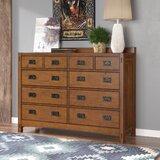 Castro 10 Drawer Double Dresser by Loon Peak®