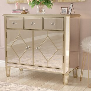 Sarina Mirrored 5 Drawer Cabinet