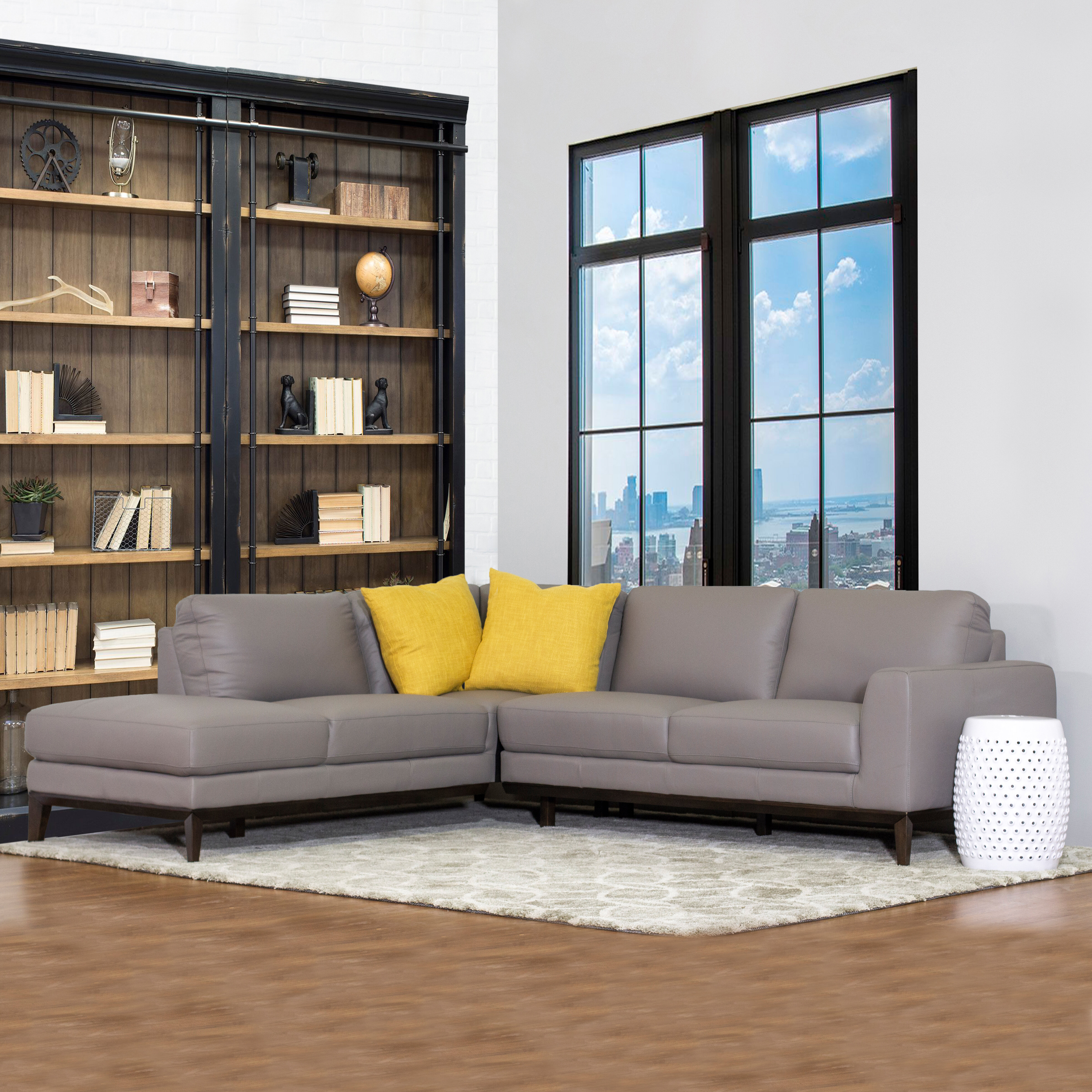 Awe Inspiring Lorimer Leather Sectional Sofa Short Links Chair Design For Home Short Linksinfo