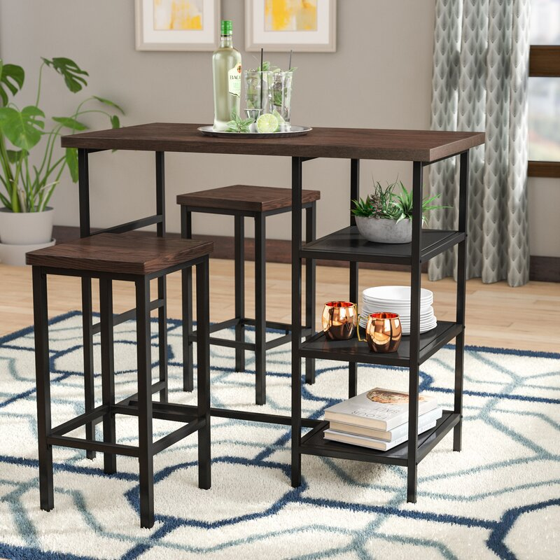 White Cane Outdoor Furniture, Ivy Bronx Du Bois 3 Piece Counter Height Dining Set Reviews Wayfair