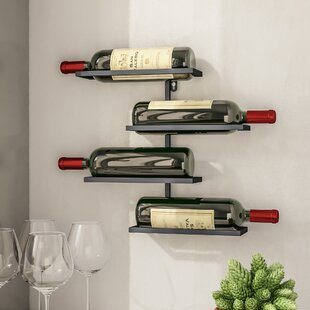 Beeney 4 Bottle Wall Mounted Wine Rack by..