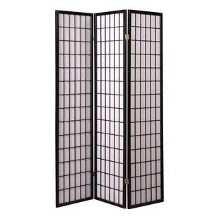 Bargain Chantae Shoji 3 Panel Room Divider ByWorld Menagerie