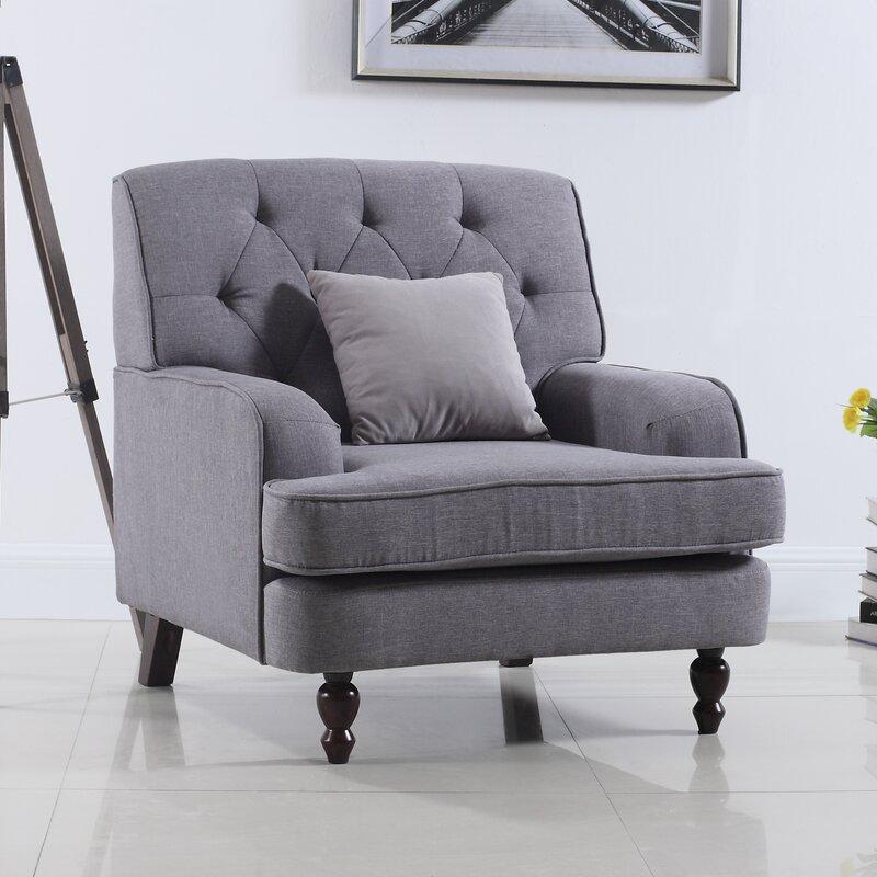 Madison Home USA Modern Tufted Fabric Living Room Armchair ...
