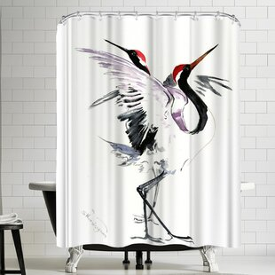 Suren Nersisyan Japanese Crane Dance Single Shower Curtain