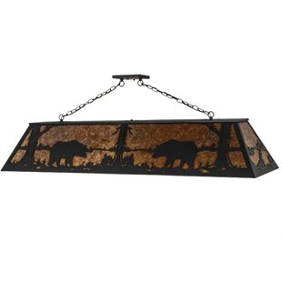 Bear at Lake 9-Light Pendant by Meyda Tiffany