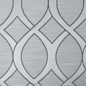 Infinity Jacquard Geometric Semi-Sheer Rod Pocket Curtain Panels (Set of 2)