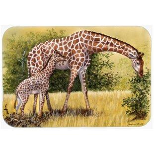 Giraffes Glass Cutting Board