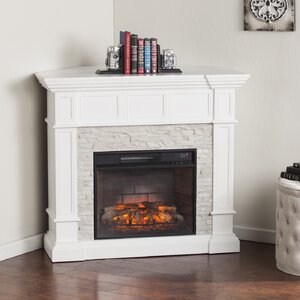 Buena Park Corner Convertible Infrared Electric Fireplace